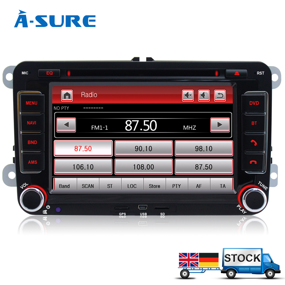 buy a sure dvd 2 din gps radio player sat
