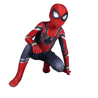 Children's day Carnival Party Iron Spiderman Costume Zentai Cosplay Spider Man Kids Costumes Bodysuit Suit Jumpsuits