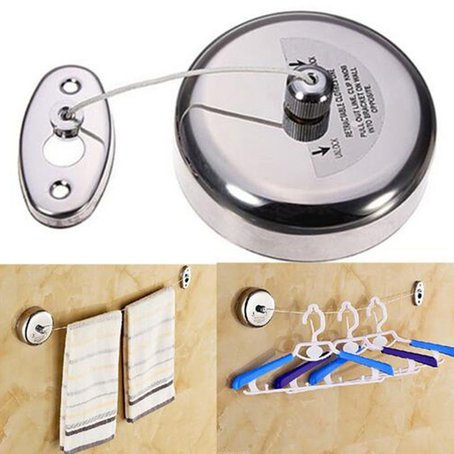 Merveilleux Stainless Steel Clothesline Telescopic Balcony Clothes Rope Hotel Clothes  Drying Line Bathroom Accessories