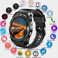 Smartwatch écran tactile montre-bracelet avec caméra/fente pour carte SIM étanche montre intelligente Bluetooth mouvement SmartWatch Bluetooth