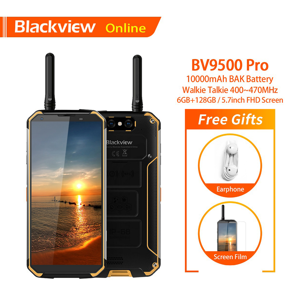 Blackview BV9500 Pro D'origine 5.7 Robuste IP68 Étanche téléphone portable 6 GB + 128 GB Talkie Walkie 10000 mAh 18:9 FHD NFC Smartphone