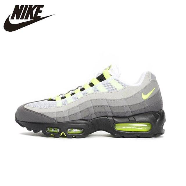 NIKE Air Max 95 OG a Estabilidade Dos Homens Originais Running Shoes Malha Respirável Apoio para o punho Esportes Tênis Para Homens Sapatos