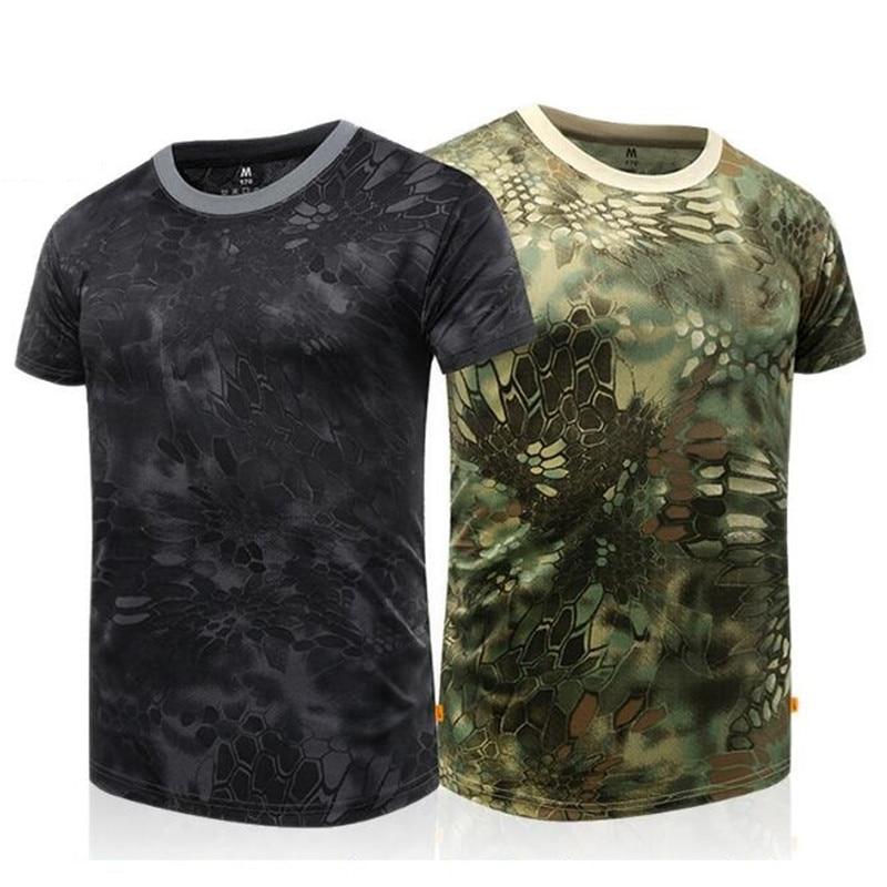 7e292451 Python Camouflage Short Sleeve Shirt Men Women Elastic Quick-drying  Tactical Short Python Tattoo T-shirtsUSD 23.45/piece. 9 10. 1 ...