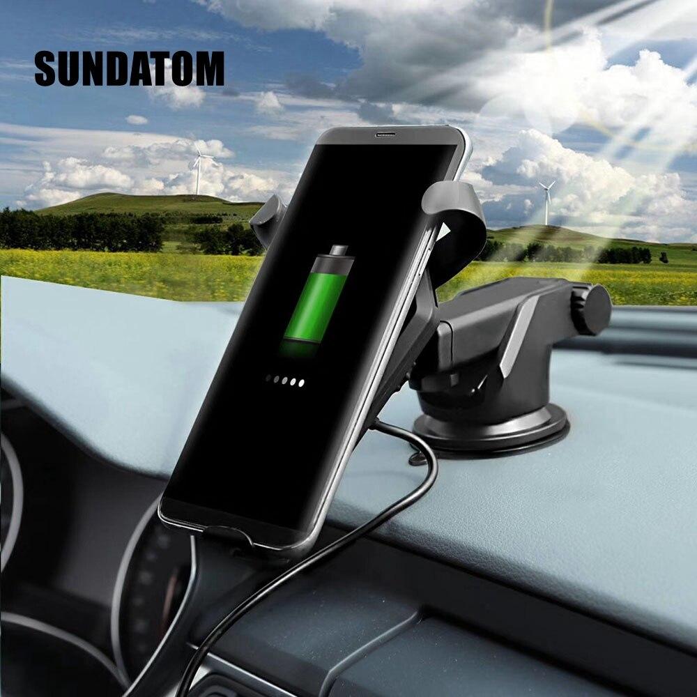 Быстрая Беспроводной автомобиля Зарядное Устройство Air Vent держатель телефона Колыбели для Samsung Galaxy Note 8/S8/S8 + /S7/S6 Edge +/Note 5