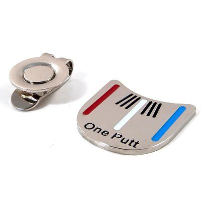 One Putt Golf Putting Alignment Aiming Tool Ball Marker With Magnetic Hat Clip Wholesale