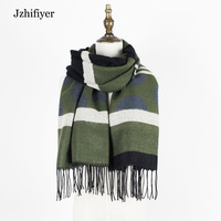 jzhifiyer YX130 shawls and wraps christmas gifts winter scarves designer fringe women polka dot shawl cashmere scarf