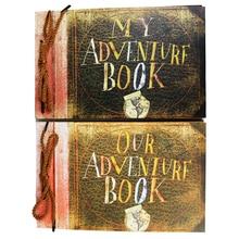 DIY Handmade Cartoon Photo Album Adventure Book Wedding Stickers Scrapbooking Our & My Adventure Movie Scrapbook Album For Gifts