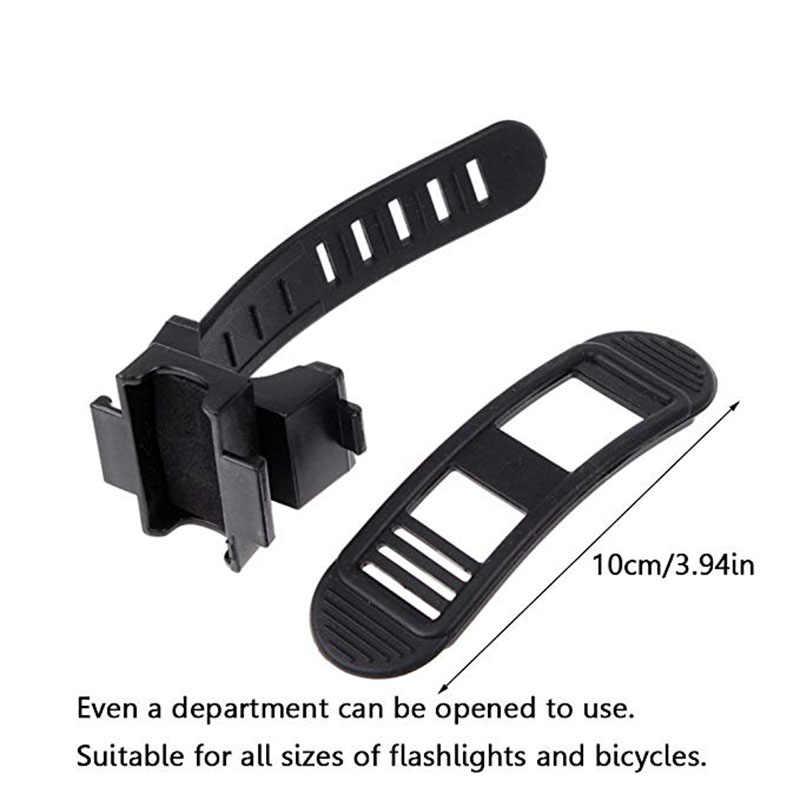 Schwarz Gummi Bike Front Lampe Licht Clamp Scheinwerfer Halter 360C Drehbare Schwenker Fahrrad LED Taschenlampe Halterung Halter