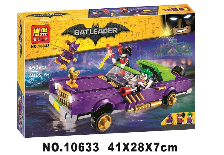 450pcs BATMAN MOVIE The Joker Notorious Lowrider Building Blocks DIY Bricks toys Gift for children Compatible With lepin 70906 lepin 02012 city deepwater exploration vessel 60095 building blocks policeman toys children compatible with lego gift kid sets
