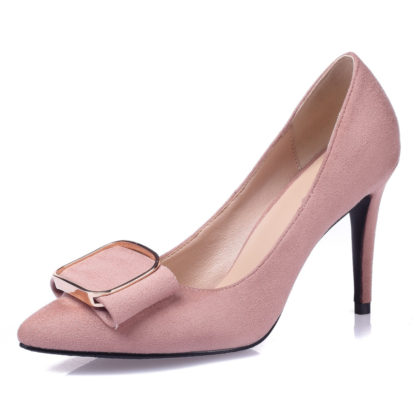 New Woman Pumps Wedding Shoes Fashion Sexy Classic Red High Heels Pointed Toe Genuine Leather Sweet Party Dress Shoes SMYBK-A12 new women patent leather high heels shoes wine red gray sexy pointed toe shoe for wedding party office career pumps smybk 020