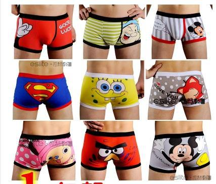 Aliexpress.com : Buy Hot Sale 100% Cotton Male Cartoon Boxer , Men ...