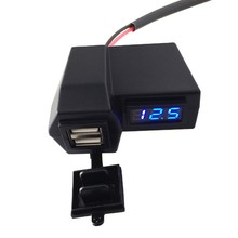 3.1A Car Motorcycle Voltmeter Thermometer Digital LED