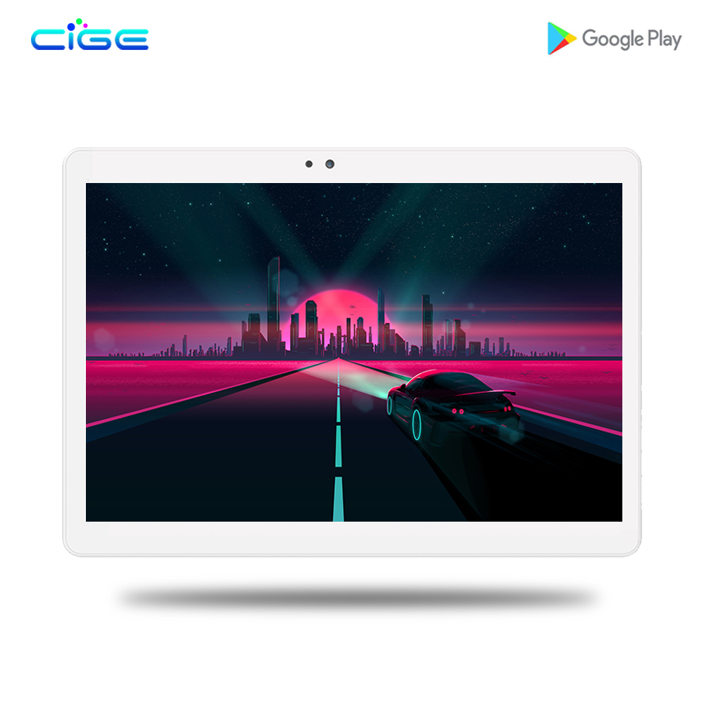 CIGE Android Tablet 10 Inch Octa Core 3G 4G Phone Call 6GB RAM 64GB ROM 1280*800 IPS Dual Cameras Android 7.0 GPS Tablets 10.1