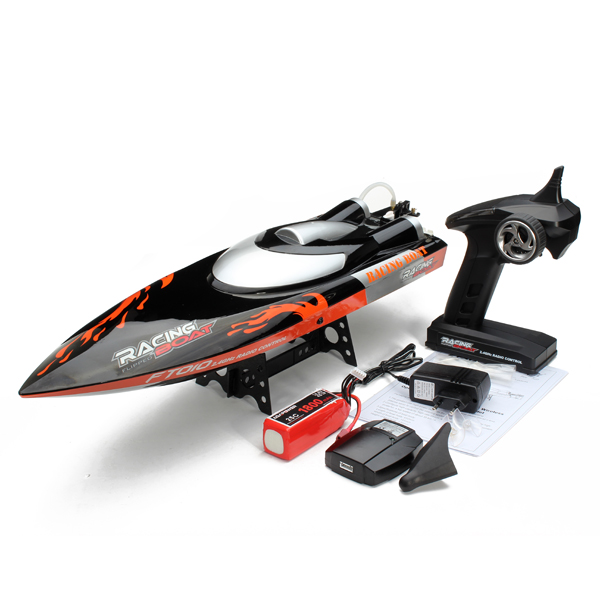 Exclusive Newest Larger FT010 RC Boat in 35KM/H Remote Control Speed Boat Water Cooling System  F16610 aluminum water cool flange fits 26 29cc qj zenoah rcmk cy gas engine for rc boat