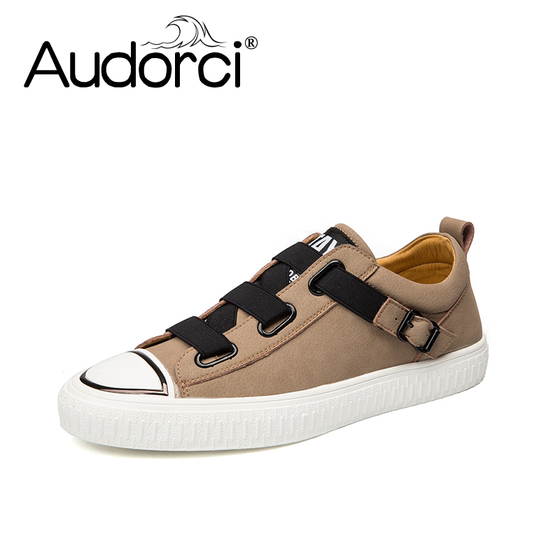 Audorci Men Shoes 2018 Spring Comfortable Casual Shoes Man Genuine Leather Flats Shoe Size 38-44 2017 men shoes fashion genuine leather oxfords shoes men s flats lace up men dress shoes spring autumn hombre wedding sapatos