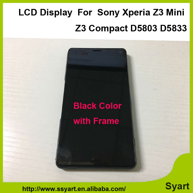 1Pcs Black LCD display touch screen digitizer assembly with frame Repair Tool For Sony Xperia Z3