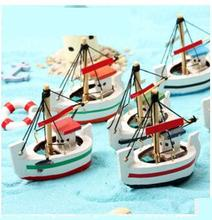 6pcs lot Creative birthday gift A wooden boat Baby toys