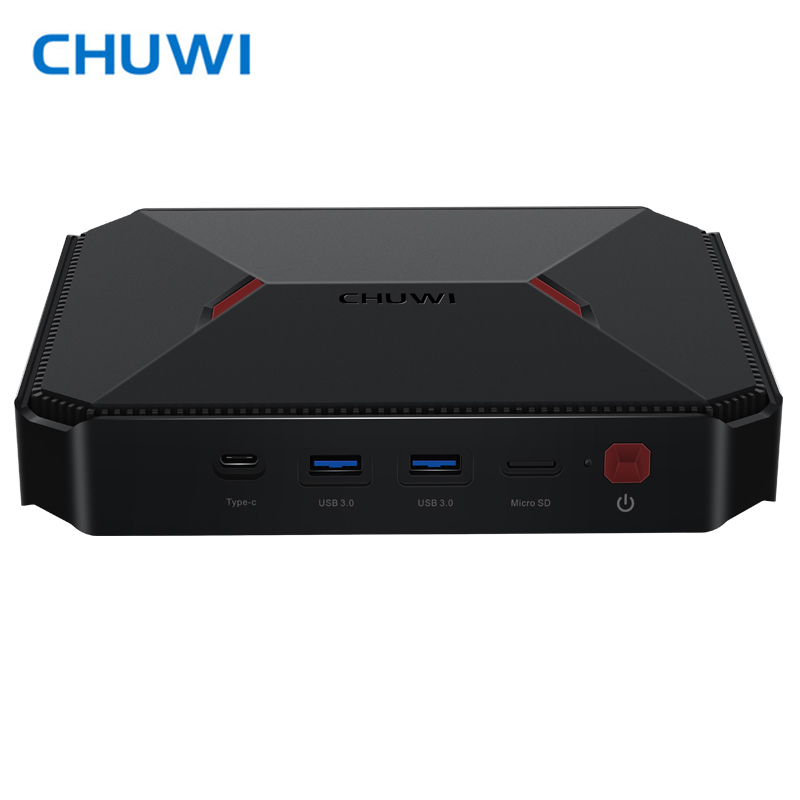 CHUWI Mini PC GBox Windows 10 Intel Gemini-Lac N4100 LPDDR4 4 gb 64 gb Wifi Double 2.4g /5g Bluetooth 4.0 Mini Ordinateur HDMI 2.0