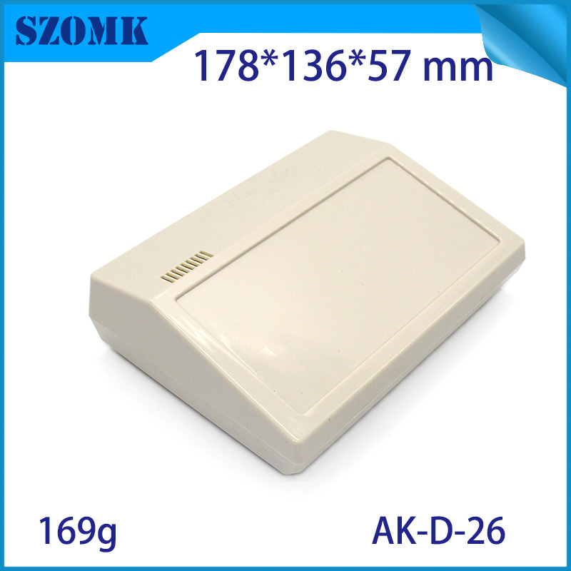 1 Piece, 178*136*57mm Plastic Housing For Connectors Szomk Hot Selling Desktop Plastic Enclosure For Electronics Plastic Case