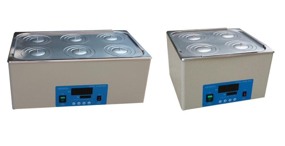 Baños de agua termostáticos de laboratorio 6 agujeros pueden estirar el revestimiento, ¡envío gratis! - 2