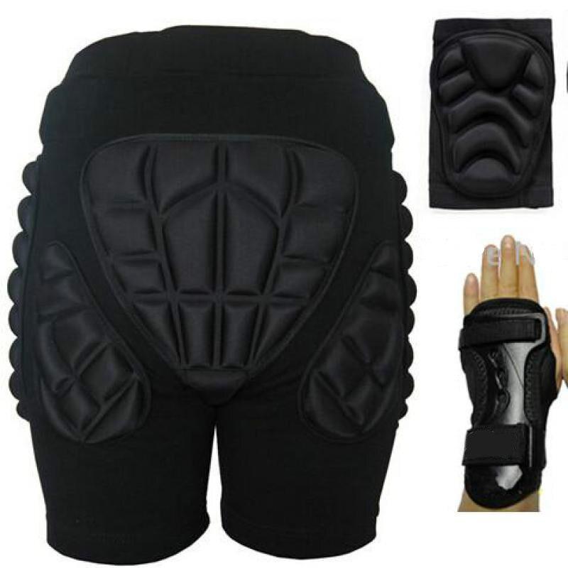 5 pcs/ensemble Sports de Plein Air De Protection Ski Hip Pad Genouillères Support de Poignet Palm Rooler Snowboard Patinage Impact Protection