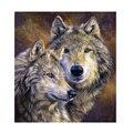 5d DIY diamante pintura Lobo amantes pintura animal Bordado Cuadros de punto de cruz resina mosaico pintura ssyp-075