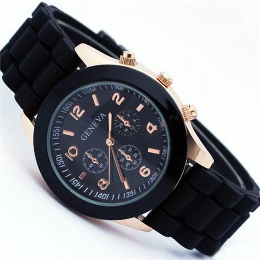 Casual Watch Geneva Unisex Quartz watch 14color men women Analog wristwatches Sp