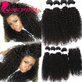 Curly Hair With Closure Mongolian Kinky Curly Virgin Hair With Closure 4 Bundles With Closure human hair Extension with closure