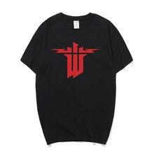 Summer New Wolfenstein T Shirt Men Short Sleeve Printed O-neck Cotton T-shirt Man Clothing Tops OS-183 wolfenstein