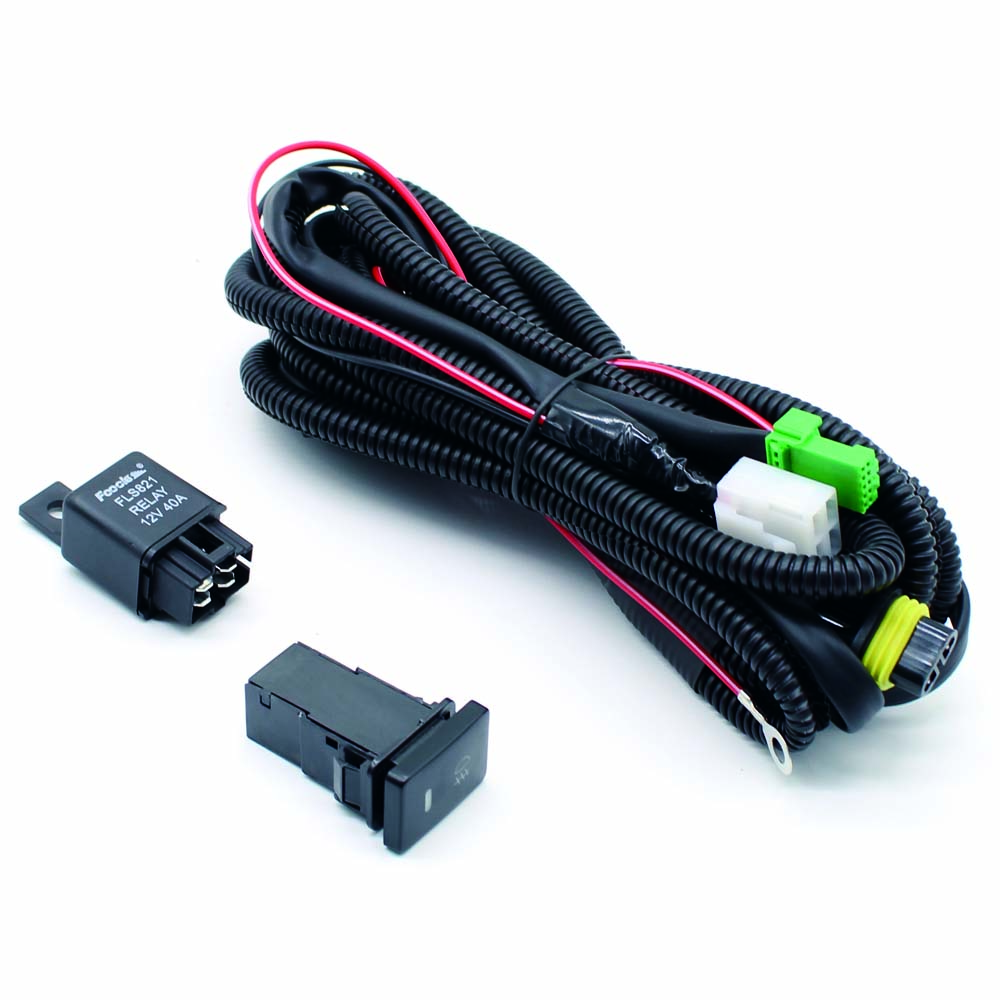 Citall H11 Fog Light Lamp Wiring Harness Sockets Wire Switch With Ford Set Of Led Indicators Relay Cable For