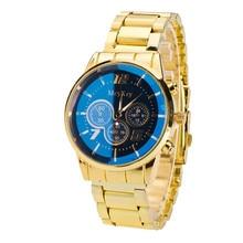 Irisshine #06 haute qualité Hommes montres marque cadeau De Luxe Hommes de Mode Sport En Acier Inoxydable Quartz Analogique Montre-Bracelet or