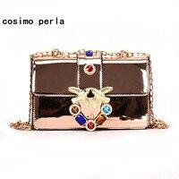 Saco de geléia Cadeia de Retalho De Ombro Andorinha Pássaro Diamantes De Couro Crossbody Sacos para As Mulheres Coréia Moda de Luxo Designer Mini Bolsas