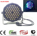 54X3W led par  DJ Par LED RGBW Wash Disco Light DMX Controller Free Shipping