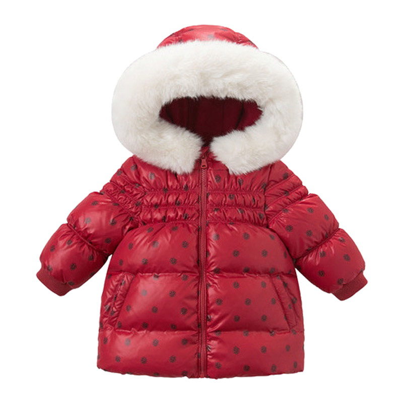 2018 Winter Down Jacket Parka for Girls Coats White Duck Down Clothes Children's Clothing for Snow Wear Kids Outerwear & Coats winter mother clothing long down coats ladies goose down jackets warm parka women outerwear winter coats white duck down jacket