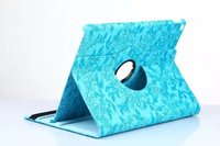 360 Degree Rotating Luxury Grape Grain Pattern PU Leather Case For Apple Ipad Pro 12.9 inch Tablet Luxury Smart Cover Stand Flip