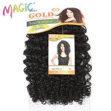 MAGIC Water Wave Synthetic Hair Weave Bundles 100g Natural Black High Temperature Fiber Heat Resistant Hair Extensions 24 Inches(China)