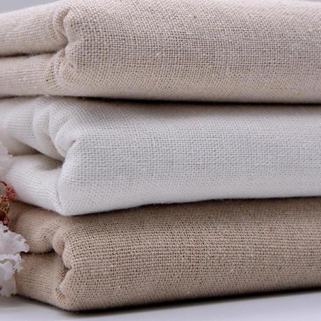 1 meter hennep katoen linnen stof voor patchwork naaien poppen