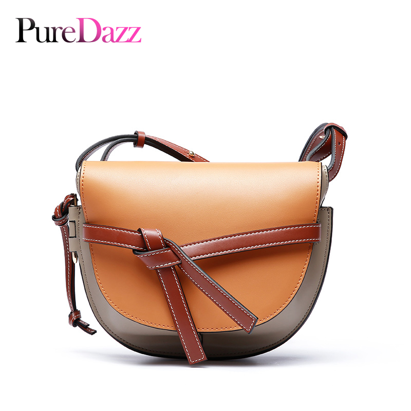2018 Big Brand Genuine Leather Saddle Bag Real Leather Flap Women Crossbody Bag Casual Shoulder Bag Women Bag