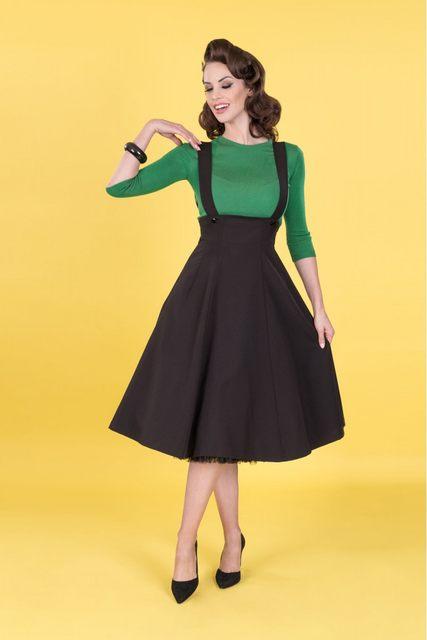 31c23d3e384 30- women vintage 50s high waist swing braces skirt in black elegant Audrey  Hepburn style plus size skirts rockabily saia faldas