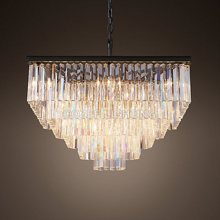 Vintage square crystal chandelier indoor lighting cristal hanging vintage square crystal chandelier indoor lighting cristal hanging light for home hotel restaurant living and dining room decor in chandeliers from lights aloadofball Images