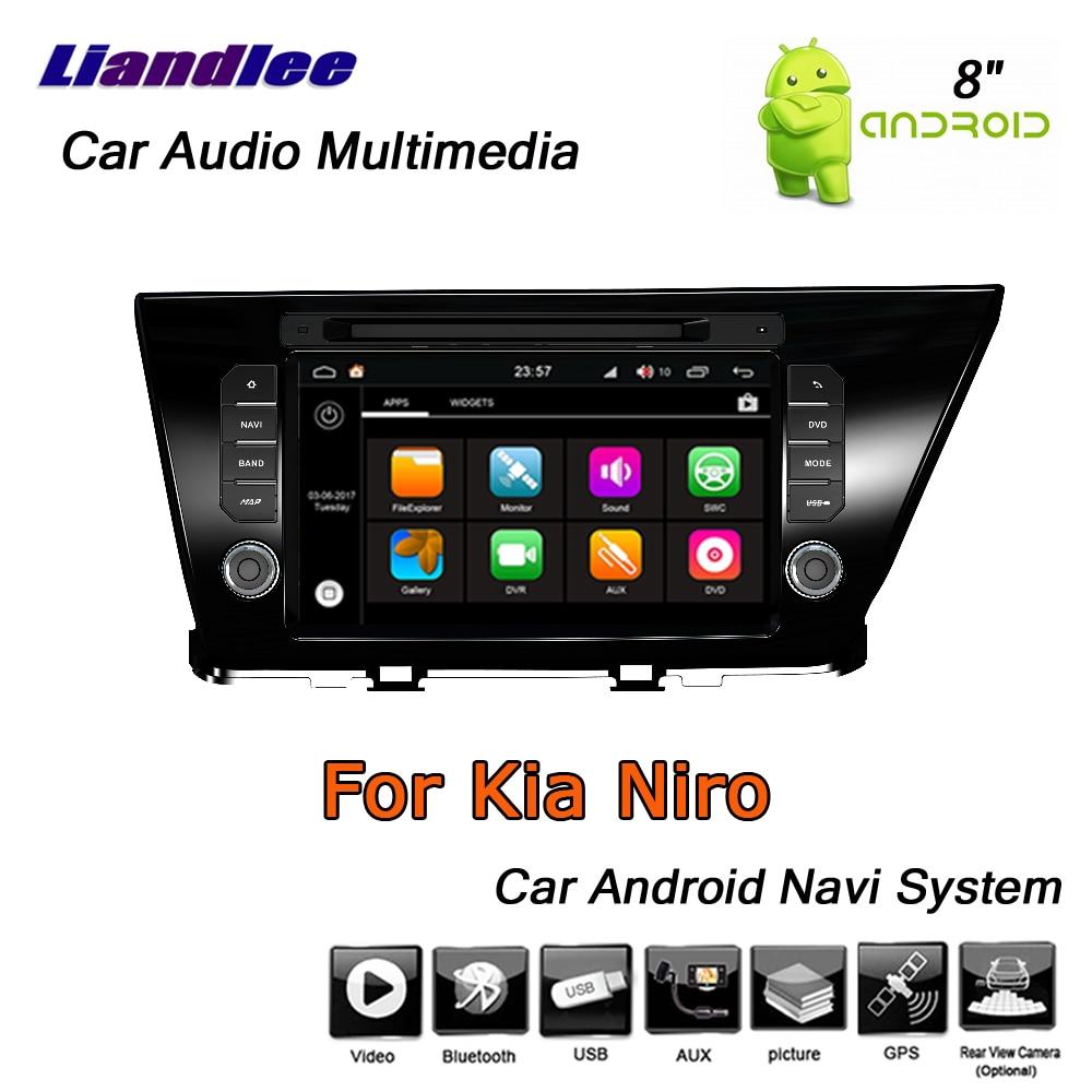Liandlee Android 8 UP For Kia Niro 2016 2019 Stereo Car Radio Carplay Camera Wifi BT