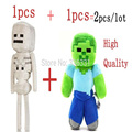 Hot sale! 2Pcs Minecraft Toys MC Zombie Steve Plush Toys Minecraft creeper 18-30CM Soft Classic Toys For Children Christmas Gift