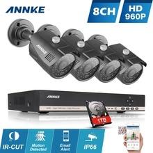 ANNKE 8-КАНАЛЬНЫЙ ВИДЕОНАБЛЮДЕНИЯ Система 960 P HDMI AHD CCTV DVR 1 ТБ HDD 4 ШТ. 1.3 МП ИК Открытый Камеры Безопасности 8 каналов 1500 ТВЛ Камеры
