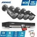 Annke 8ch cctv sistema 960 p hdmi cctv ahd dvr 1 tb hdd 4 PCS 1.3 MP Câmera do IR Ao Ar Livre Câmera De Segurança de 8 canais de 1500 TVL