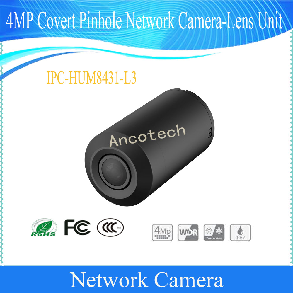 Dahua Free Shipping Security CCTV 4MP Covert Network Camera-Lens Unit without logo IPC-HUM8431-L3