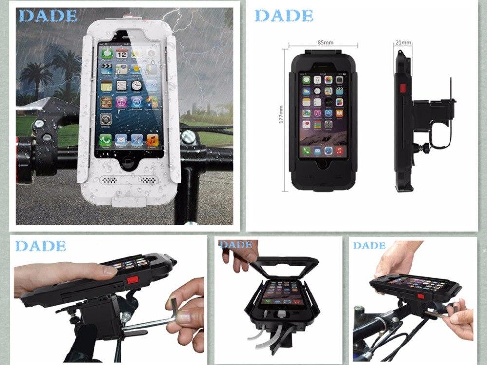 """imágenes para Motocicleta de La Bicicleta A Prueba de agua Del Montaje Del Manillar Holder para apple iphone 5S 5 6 6 s 4.7 """"capa de lujo carcasas"""