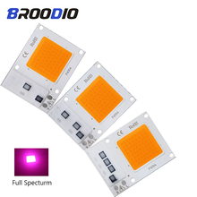 LED Lamp COB Chip Grow Light Smart IC Bulb Lighting AC 110V 220V 10W 20W 30W Full Specturm For Indoor Seedling LEDs DIY