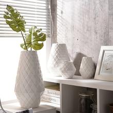 Europe Geometric Patterns Porcelain Vase Modern Fashion Ceramic Flower Room Study Hallway Home Wedding Decor Vases