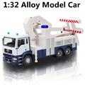 1:32 Sound and light alloy trailer toys, children's educational toys, high simulation model of rescue vehicles, shipping