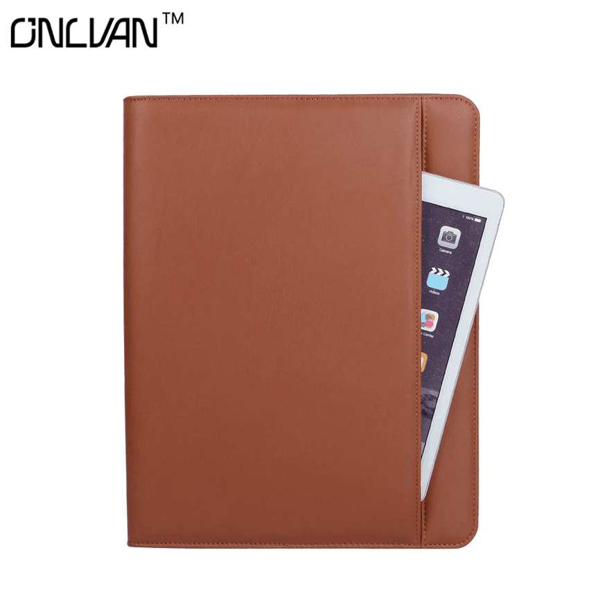 ONLVAN Manager Folder 6000mAh Portfolio PU Leather Padfolio Document Covers Office Supply Business Accessories Accept Customized ruize multifunction pu leather folder organizer padfolio soft cover a4 big file folder contract clamp with notepad office supply